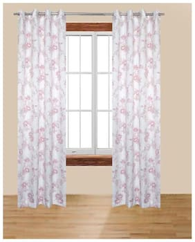 Alagh Fashions Polyester Door Curtain 212 cm (6.8ft) Pack of 2  (Printed Multicolor)
