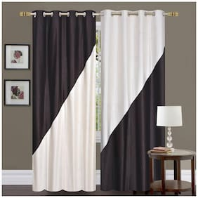 "ALAGH Fashions Eyelet  Polyester 2 Piece Door Curtain Set - 84""x48"""