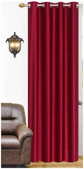 "ALAGH Fashions Eyelet Polyester  Door Curtain Set - 84""x48"""