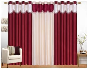 "ALAGH Fashions Eyelet   Polyester 3 Piece Door Curtain Set - 84""x48"""