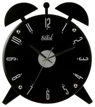Safal Black Wall clock