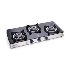 Alda 3 Burners Regular Gas Stove - Black , Auto Ignition
