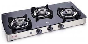 Alda 3 Burners Stainless Steel Gas Stove - Black , Auto Ignition