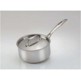 Alda Induction Friendly Tri Ply Stainless Steel Sauce Pan with Lid - 18 cm
