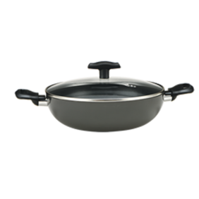 Alda Graphito Induction Friendly Triple Layer Non Stick Wok Pan with Lid 28 cm