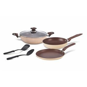 Alda Induction Friendly Non Stick Cookware Gift Set Cookies & Creme - 3 Piece