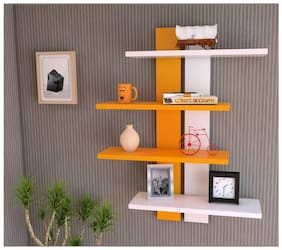 all crafst art wooden dobule patti wall shelf