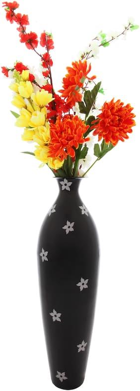Alnico Decor Black Flower Pot - Unbreakable