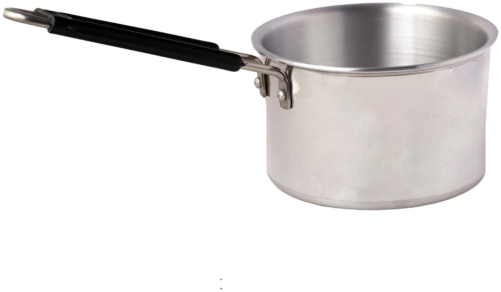 ROLIMOLI With Lid Fry Pan Induction Bottom 16 cm Diameter   Stainless Steel , Set of 1   by Prachi International