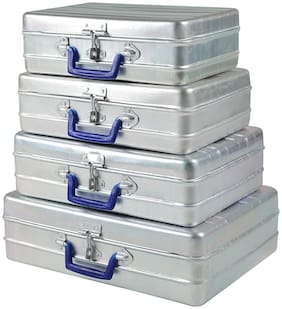 "Aluminium Storage Bags - Set of 4 pcs (12""-13""-14""-16"")"