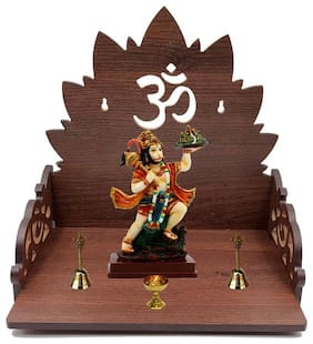 Always4U Wooden Temple Shelf/Pooja Mandir For Home;Shop;Office Tmp-010