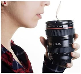 Amazing Camera Lens Mug With ,Stainless Steel Travel Thermos Camera Lens Coffee Tea Cup Mug Coffee Cup