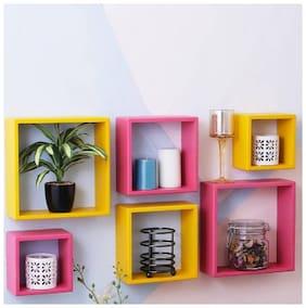 Amazing Clourful Wall Shelf ( Number Of Shelf- 6 Multi)