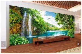 Amazing greenery with waterfall 60x90 cm HD wallpaper vinyl