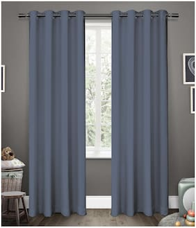 American-Elm Glorious Dove 2 Panel Room Darkening Blackout Curtains | Long Door- (137 cm (54 Inch) x 274 cm (108 Inch))