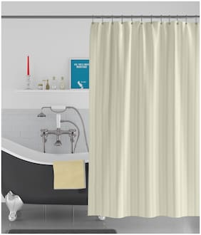 American-Elm Stripes Self Designed Anti Bacterial Water-Repellent Shower Curtain;Bathroom Curtains (183 cm (72 Inch) x 213 cm (84 Inch))