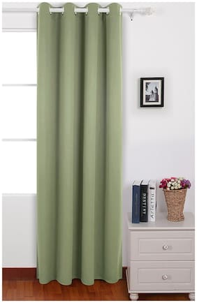 American-Elm Pack of 1 Two Sided Sage Color Room Darkening Blackout Curtains | Window (137 cm (54 inch) x 152 cm (60 inch))