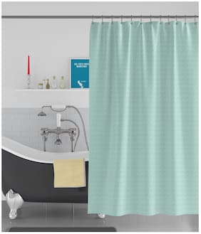 American-Elm Box Textured Anti Bacterial Water-Repellent Shower Curtain;Bathroom Curtains (183 cm (72 Inch) x 244 cm (96 Inch))