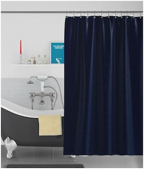 American-Elm Box Textured Anti Bacterial Water-Repellent Shower Curtain;Bathroom Curtains (183 cm (72 Inch) x 183 cm (72 Inch))