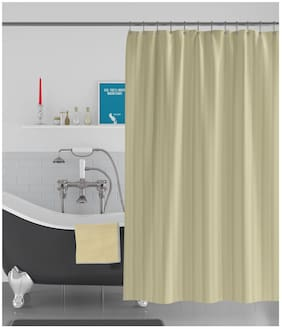 American-Elm Stripes Self Designed Anti Bacterial Water-Repellent Shower Curtain;Bathroom Curtains (122 cm (48 Inch) x 182 cm (72 Inch))