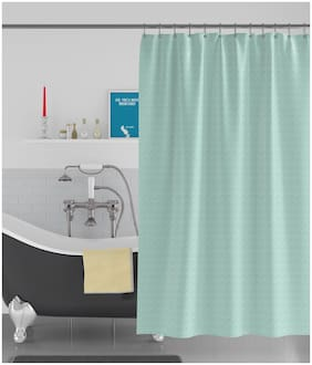 American-Elm Box Textured Anti Bacterial Water-Repellent Shower Curtain;Bathroom Curtains (183 cm (72 Inch) x 213 cm (84 Inch))