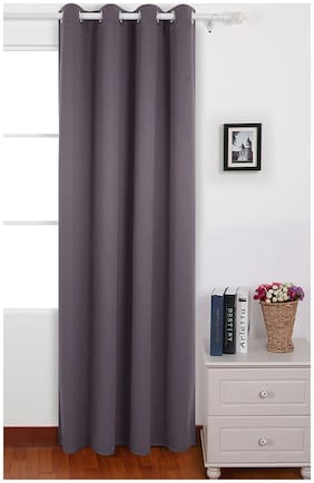 American-Elm Pack of 1 Two Sided Brown Color Room Darkening Blackout Curtains | Window (137 cm (54 Inch) x 152 cm (60 Inch))
