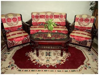 FAB NATION Set of 10 Red net sofa covers