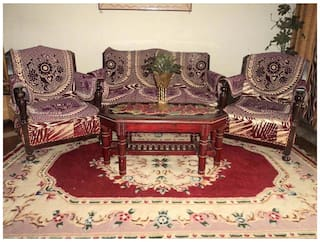Magnificent Amitas Home Furnishing Polyester Purple Sofa Cover Set Of 12 Pabps2019 Chair Design Images Pabps2019Com
