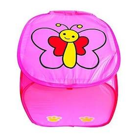 Amita's Home Furnishing Pink Color Multipurpose Foldable Laundry Bag