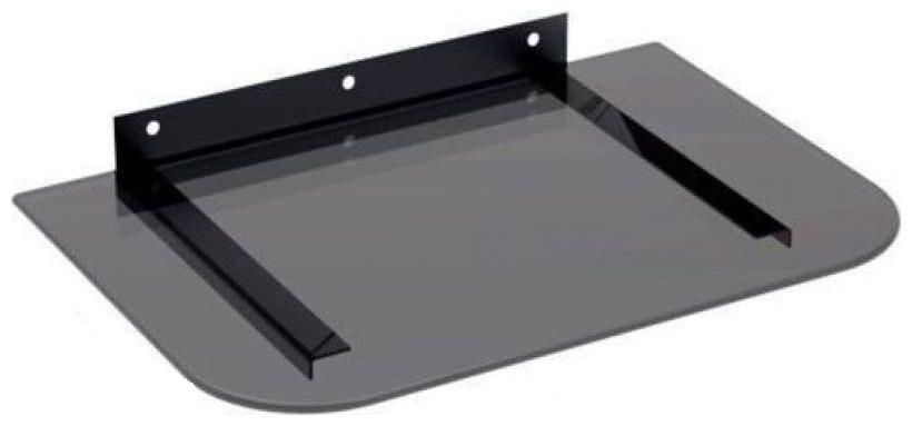 AMPEREUS Glass Wall mount   Black ,Number of Shelves  1