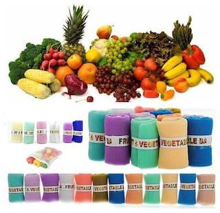 Ampereus  Vegetable Fruit Net Bag, Pack of 12, Multicolour