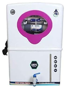 Ampis 12 L Premium RO+UV+UF+TDS Control With Mineral New Technology Water Purifier (White)