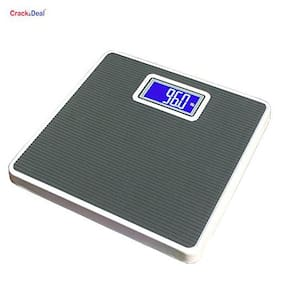 AmtiQ Iron Body Grey 100Kg Digital Personal Body Weighing Scale/Machine