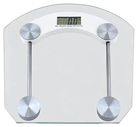 AmtiQ Personal Weight Machine Thick Glass 8mm 150kg Square Weighing Scale