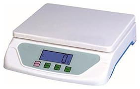 AmtiQ Plastic Digital Electronic TS 500 15 kg Kitchen Weighing Machine (off-white)