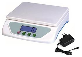 AmtiQ Plastic Digital Electronic TS 500 15 kg with adapter Kitchen Weighing Machine (off-white)
