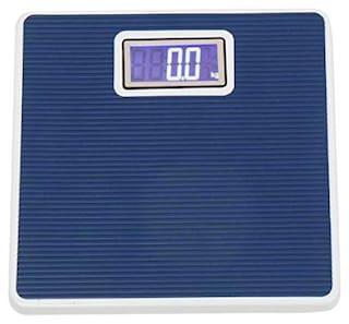 AmtiQ Premium Digital Iron Body 100kg Blue Weighing Scale