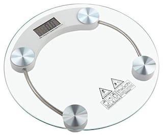 AmtiQ Round Glass 145Kg High Quality Bathroom Personal 145kgWeighing Scale/Machine