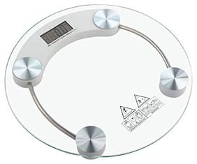 AmtiQ Round Glass 140Kg Waterproof Bathroom Personal140kgWeighing Scale/Machine