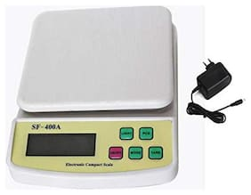 AmtiQ SF 400A with Adapter High Quality Compact Scale Restutrant 7kgWeighing Scale/Machine