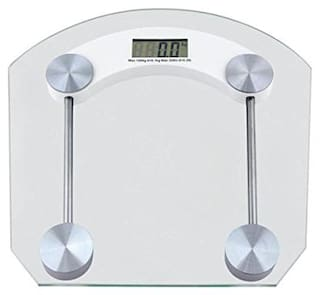 AmtiQ Square Glass 125Kg Maintain Fitness(Weight Measurement)125kgWeighing Scale/Machine