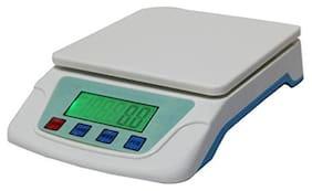 AmtiQ TS 200V 5 Kg Plastic Digital Electronic Kitchen Weighing Machine;27.5 Inch;Off-white