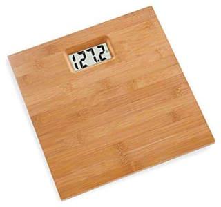 AmtiQ Wooden Body 115Kg Electronic Digital Personal BathroomWeighing Scale/Machine