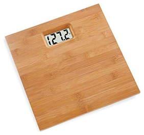 AmtiQ Wooden Body 120Kg Health BathroomWeighing Scale/Machine