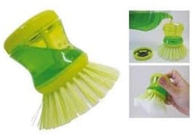 And Retails HK-CLN-SOAP-278-S3 Plastic Cleaning Brush With Liquid Soap Dispenser  Self Dispensing Cleaning Brush