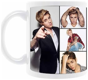 "AngaarLook ""Justin Bieber"" Printed 350ml Ceramic Mug"