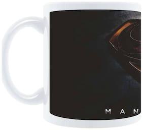 "AngaarLook ""Man Of Steel"" Printed 350ml Ceramic Mug"