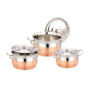 Angel Copper Bottom Dish (Set Of 3 Pcs)