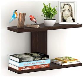 Anikaa Stella  Decor Wall Shelf/Display Rack (Wenge, 2 Shelves)