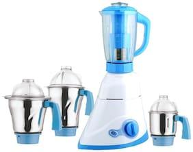 Anjalimix LF9-1000 1000 W Mixer Grinder ( White & Blue , 4 Jars )